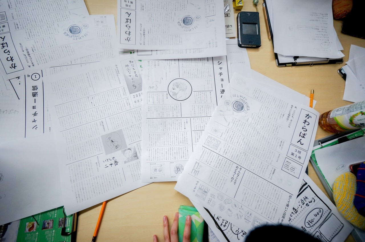 開始から数時間……ポットラックスタッフの方が紙面を組んでくれて、無事に完成! シンプルだけれど、その日の体験をその場で企画にし、言葉にし、新聞にするという体験は感動的。